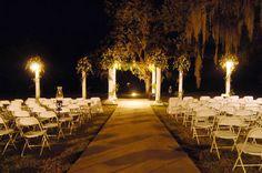 Nightime wedding on a plantation