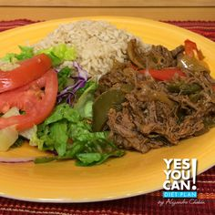 Ropa Vieja a healthy option for your Yes You Can! Diet Plan lunch