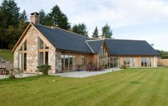 Scotframe Timber Frame Homes - Timber-frame kit homes for self-build houses Bungalow Exterior, Bungalow House Plans, Bungalow House Design, House Plans Uk, Bungalow Homes, Timber Frame Homes, Timber House, Metal Homes, Timber Frame Home Plans