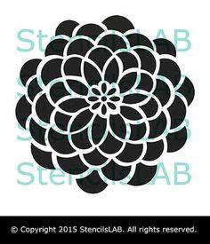 Wall Painting Stencil - Decorative Round Flower Wall Stencil