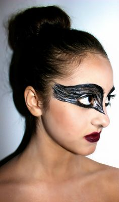 Halloween makeup: BLACK SWAN by VanessaBarton. Find out how she got this look on Sephora's Beauty Board>