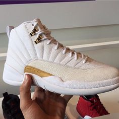 fb39bc2fa5c158 Drake s premium Air Jordan 12 OVO collaboration is slated to release July  featuring luxurious White Metallic Gold colorway with stingray leather.