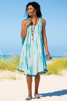 La Playa Dress - Tie Dye Beach Dress, Tie Dye Jersey Knit Dress | Soft Surroundings