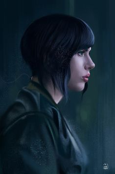 Ghost in the Shell - Scarlett Johansson photostudy, Yaşar VURDEM on ArtStation… Digital Portrait, Portrait Art, Painting Portraits, Digital Art, Muse Magazine, Motoko Kusanagi, Ghost In The Shell, Film Serie, Freelance Illustrator