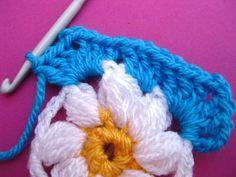 Paso a paso granny squares Crochet - Telares & Manualidades