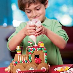 "ROYAL ICING.  This quick-mix recipe makes enough ""glue"" to build and decorate our Gingerbread Train. We've found that dried egg whites work best, but you can substitute fresh ones."