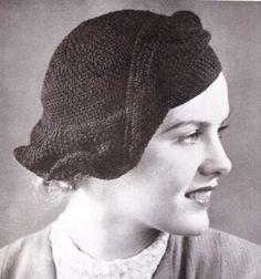 The Wave Hat Crochet Pattern Beret Cap PDF