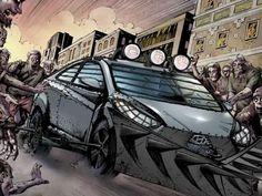 voitures zombies survie marchant comics morts les morts vivants modles hyundai apocalypse zombie auto voiture style - Zombie Voiture