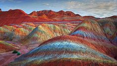 Rainbow Mountains - (Zhangye Danxia Landform Geological Park in China)