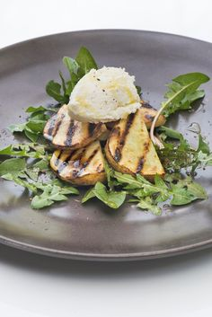 with ricotta salata and dandelion barbecued potato salad with ricotta ...