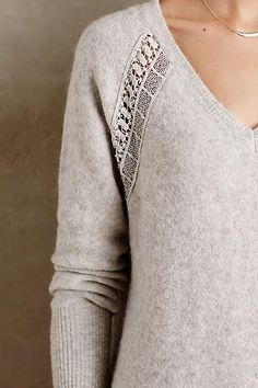 Raglan Boucle V-Neck - anthropologie.com Embroidery Fashion, Sweater  Weather, Anthropologie 4ef0e3ac953