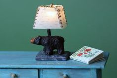 How to Make Cute Working Dollhouse Lamps From Animal Beads: Make A Working Bear Themed Miniature Table Lamp in Dolls House Scale
