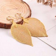 Simple Vintage Earrings Retro Natural Leaves Tassel Dangle Earrings for Women Gift Jewelry Gifts, Fine Jewelry, Women Jewelry, Couple Jewelry, Chain Jewelry, Jewellery, Silver Roses, Rose Gold, Earring Backs