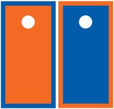 Orange and Blue Cornhole Boards 1385 by CustomTailgateGames