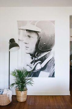 Oversized poster of Steve McQueen   Design*Sponge