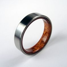 i love this mens wedding band...love the wood