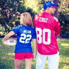 Football engagement photo shoot. Ny Giants