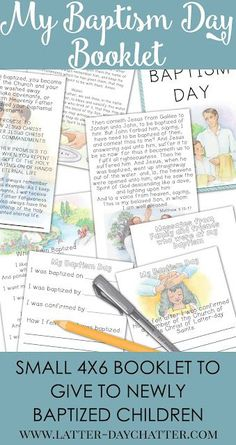 Latter-day Chatter: Baptism Book  REVAMPED Baptism booklet to give to newly baptized children. Ready to print as 4x6 images.