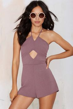 Totally obsessed with the color of this gorgeous Rekha Halter Romper.