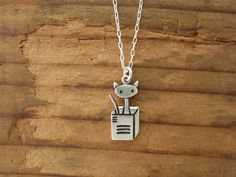 Cat in a Box Necklace  Cat Necklace  Cat Charm by marmar on Etsy, $25.00