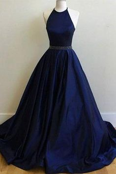 Charming Prom Dress,Sexy Prom Dress, Simple Halter Prom Dresses,Sleeveless Evening Dress,Elegant Dar on Luulla Navy Blue Prom Dresses, Open Back Prom Dresses, Formal Dresses For Teens, A Line Prom Dresses, Cheap Prom Dresses, Formal Evening Dresses, Dance Dresses, Evening Gowns, Dress Prom