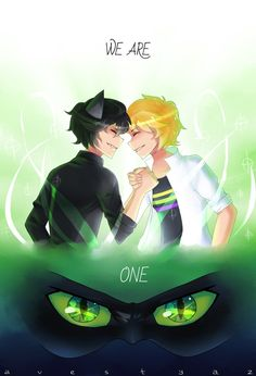 It's beautiful art and a good idea from making plagg in human form and then show that if Adrien transform he and Plagg become on. Credits for the one who made this