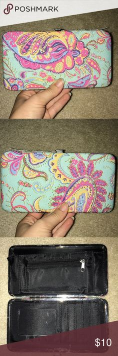 Gorgeous Paisley Wallet This gorgeous wallet has been lightly used. For the most part, this wallet is in great condition. The only issue with it, is that some of the seam is falling apart on the top (as pictured) but isn't too noticeable. Plenty of room for cards and cash! Rue21 Bags Wallets