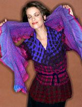 Patricia Palson, an award winning weaver with 20 years of fashion  Cool Squares Calypso Jacket