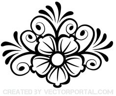 Flower Ornament Vector Art | Download Free Vector Graphics