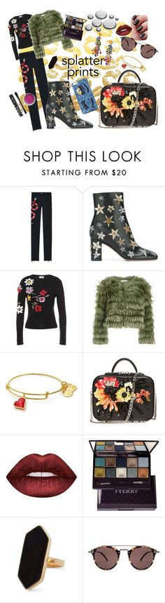 """Print and Play"" by etoileboutique on Polyvore featuring Gucci, Valentino, RED Valentino, Alice + Olivia, Lime Crime, By Terry, Tory Burch, Jaeger, Oliver Peoples and Chiara Ferragni"