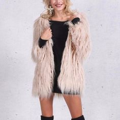 Step out this Winter in the Cassidy Faux Fur Coat! Style this so many ways - glam up your casual jeans outfit, or go for full-on glamour by wearing over your cocktail dress for a night out. RUNS VERY