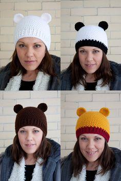 Bear friends crochet hat  Choose your bear  Made by FallenDesigns, $30.00