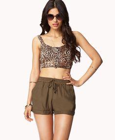 Cuffed Drawstring Shorts   FOREVER21 - 2037937571