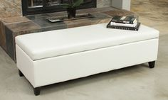 Groupon - Hudson Leather Storage Ottoman. Groupon deal price: $129.99