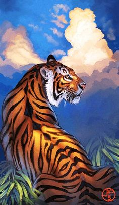 Bengal: King of Diamonds di balaa su DeviantArt - Tiger Zeichnung Best Picture For diy home decor For Your Taste You are looking for something, and - Animal Paintings, Animal Drawings, Art Drawings, Big Cats Art, Cat Art, Art Tigre, Tiger Painting, Tiger Drawing, Tiger Artwork