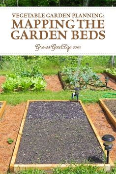 Vegetable Garden Planning: Mapping the Garden Beds: Mapping your vegetable garden before planting will help you see how many seedlings you need, where they will be planted, and how you can keep each bed producing all through the growing season. #vegetablegarden #spring #gardenplanning