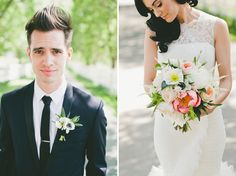 Glamorous Malibu Wedding: Sarah + Brendon Urie  Seriously one of the cutest couples ever and one of the prettiest weddings I've ever seen!!