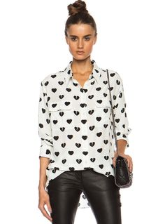 Shop White Long Sleeve Black Heart Print Blouse online. Sheinside offers White Long Sleeve Black Heart Print Blouse & more to fit your fashionable needs. Free Shipping Worldwide!