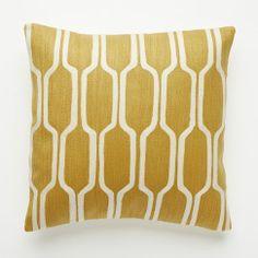 Honeycomb Crewel Pillow Cover – Golden Gate   west elm- $44.00