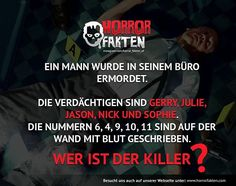 ❝Wer ist der Killer?❞  #horrorfakten
