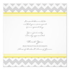 ShoppingWedding Thank You Cards Yellow Gray Chevronlowest price for you. In addition you can compare price with another store and read helpful reviews. Buy
