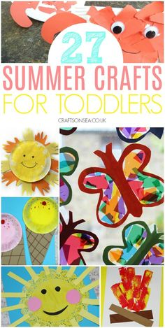 summer crafts for toddlers easy preschool #kidscrafts #summercrafts Summer Activities For Toddlers, Summer Crafts For Kids, Crafts For Boys, Toddler Activities, Summer Crafts For Preschoolers, Summer Fun, Summer Time, Crafts Toddlers, August Summer