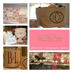 Luv The Name - Beautifully monogrammed houseware, jewelry, baby clothes and handbags.