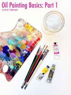 Sarah Croft Nightingale Art: Oil Painting Basic: Part 1 | Supplies