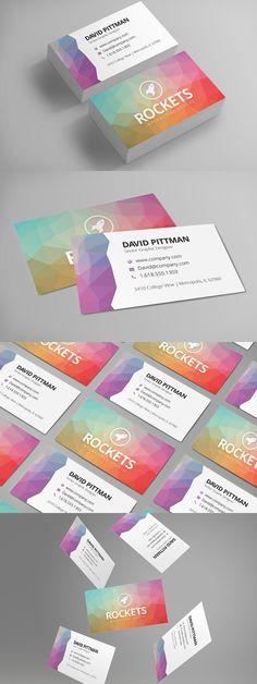 #businesscard #design from Creativenauts | DOWNLOAD: https://creativemarket.com/creativenauts/658513-Polygon-Business-Card-Template?u=zsoltczigler
