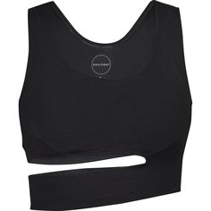 Sun & Cobalt Ash Sports Bra | Black