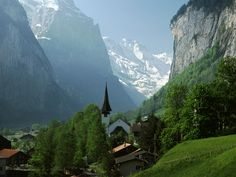 Switzerland... dream is to hike the mountains from village to village.