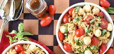 Ensalada caprese con pasta #recetas