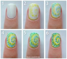 Tie dye nails! Takes alot of time, but your nails will be awesome, and blend right into the hippie theme party.