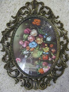 More than sellers offering you a vibrant collection of fashion, collectibles, home decor, and more. Glass Picture Frames, Wall Mirror, The Ordinary, Decorative Plates, Vibrant, Floral Prints, Italy, Pretty, How To Make
